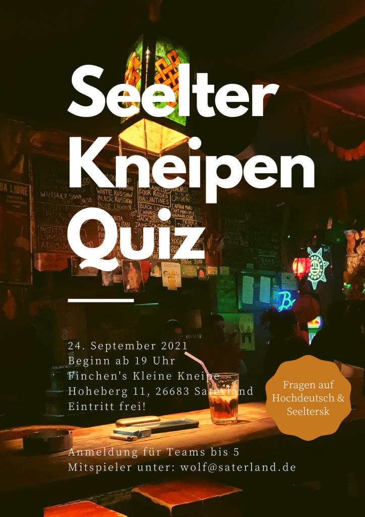 24. September: Seelter Kneipen-Quiz
