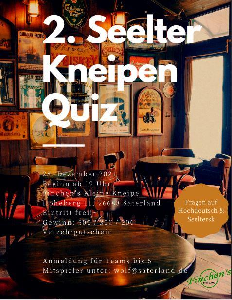 Zweites Seelter Kneipen-Quiz am 28. Dezember